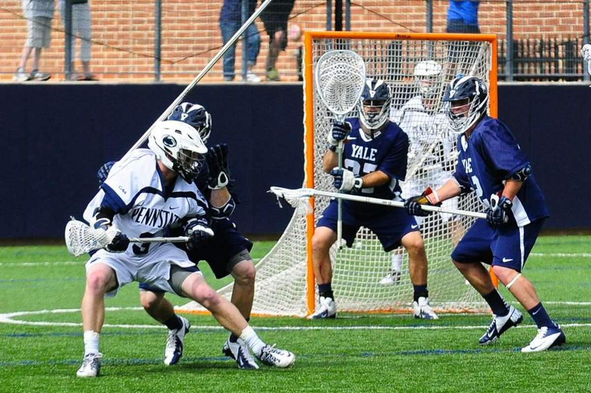 The Yale defense hopes to stifle top-ranked Syracuse the way it did against Penn State in the opening round of the NCAA tournament. (Photo courtesy of Yale Athletics)