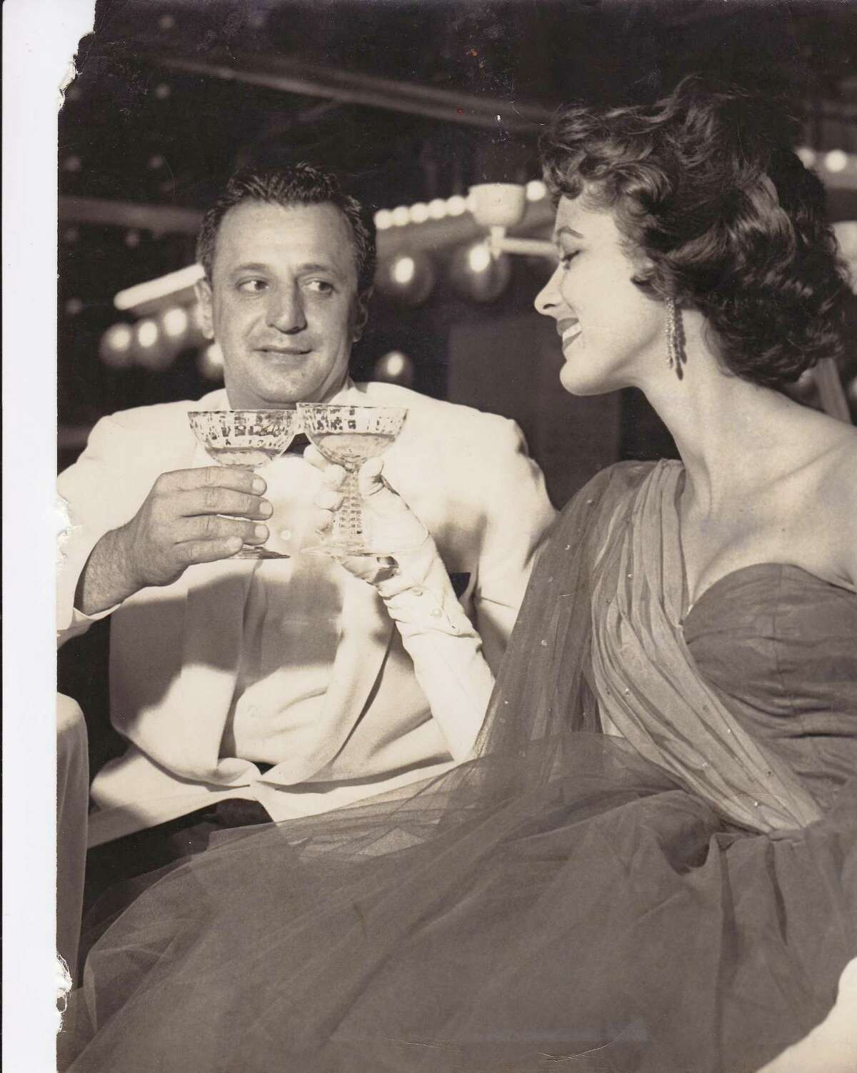 Judith Campbell Exner with New Haven's Tony Consiglio. Photo courtesy of Franz Douskey, author of