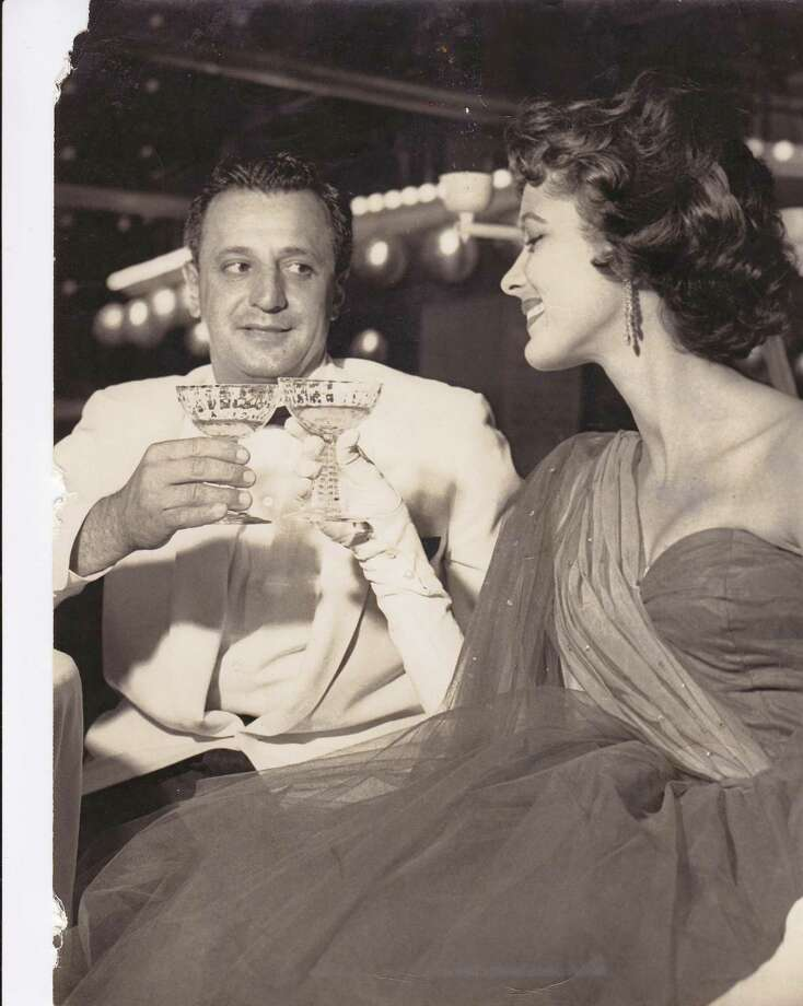 """Judith Campbell Exner with New Haven's Tony Consiglio. Photo courtesy of Franz Douskey, author of """"Sinatra and Me: the Very Good Years."""""""