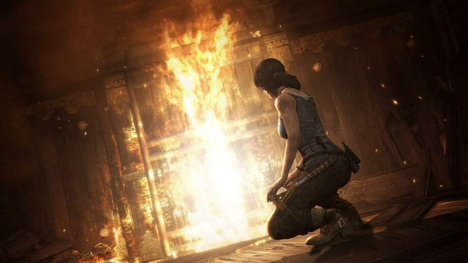 """Crystal Dynamics/Square Enix photo: A scene from the video game """"Tomb Raider,"""" making a triumphant return. Photo: AP / AP2012"""