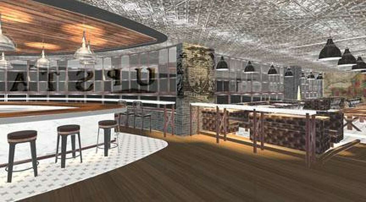Architect's rendering of the Upstate Tavern, due to open this spring. --Courtesy Oneida Indian Nation