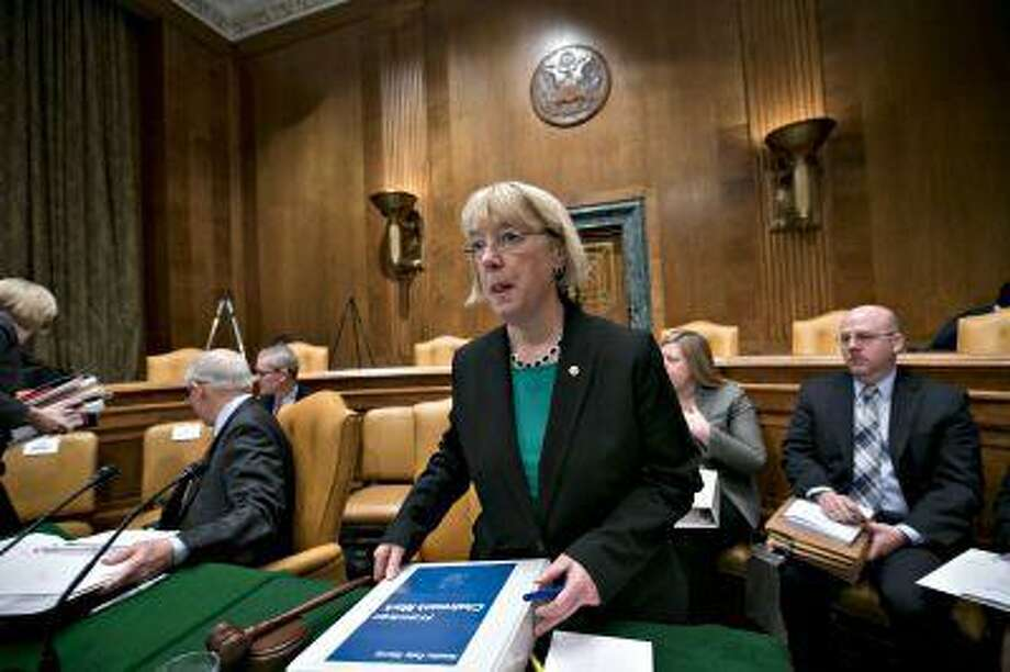 Sen. Patty Murray, D-Wash., chair of the Senate Budget Committee, prepares Thursday for a day of work on the Democrats' spending strategy during a markup session of the budget on Capitol Hill in Washington. Photo: ASSOCIATED PRESS / AP2013
