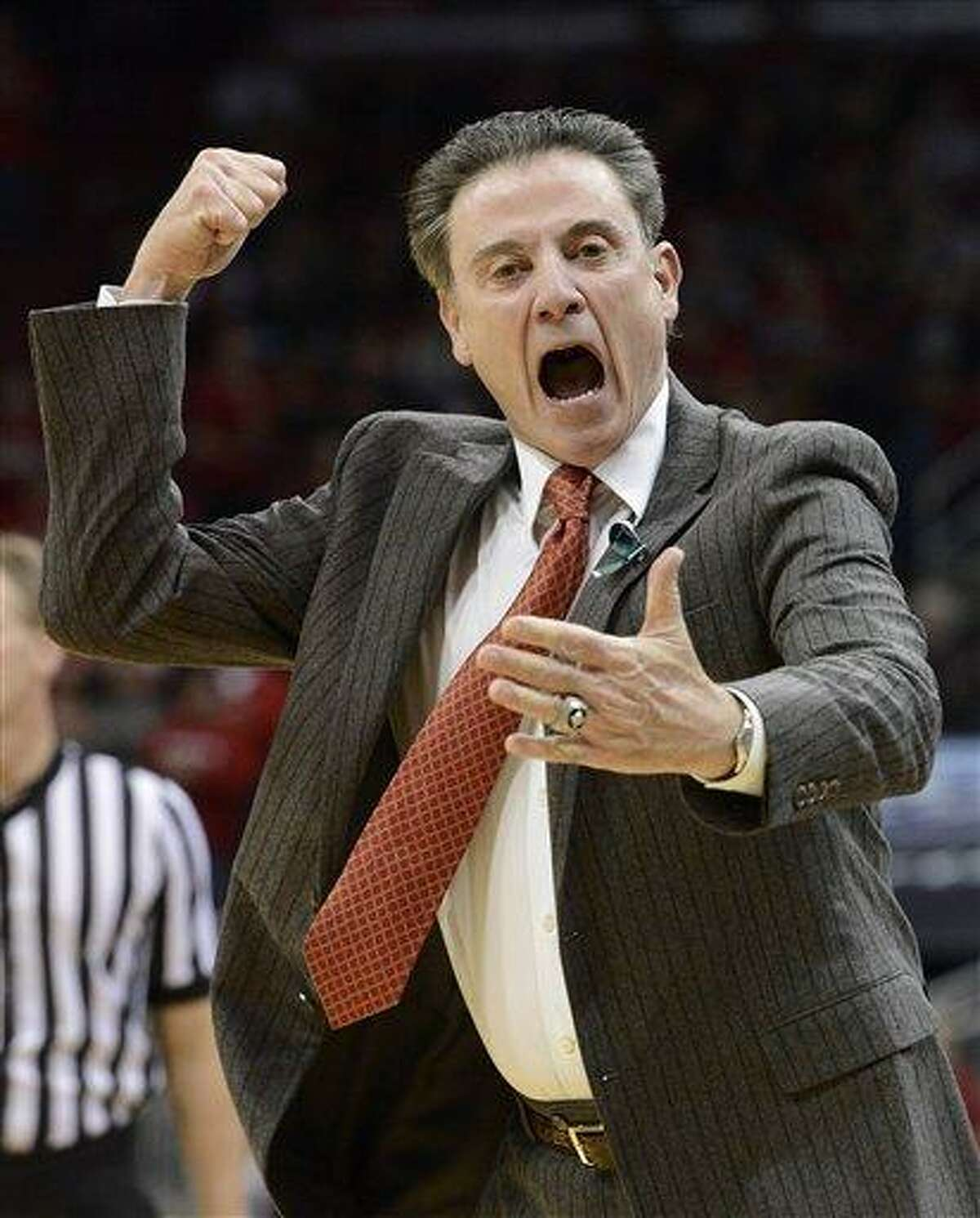 Louisville head coach Rick Pitino. (AP file photo/Timothy D. Easley)