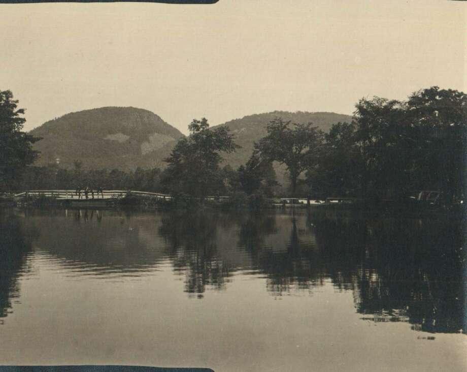 Hamden Historical Society photo: Clark's Pond at Sleeping Giant