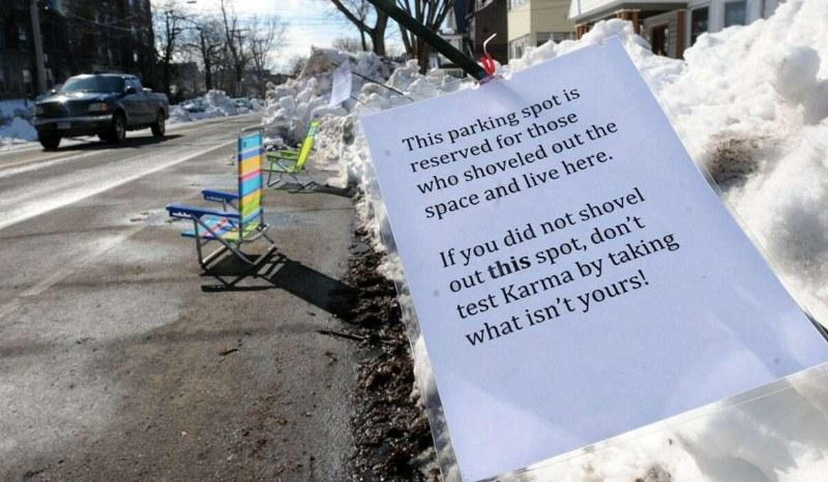 As seen on Orange St. in New Haven, aftermath of Blizzard 2013, Nemo. Mara Lavitt/New Haven Register 2/13/13