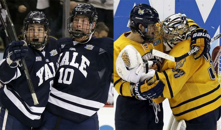 Associated Press Yale and Quinnipiac will play for a 1st national title tonight at 7 p.m. on ESPN2. Photo: ASSOCIATED PRESS / AP2013