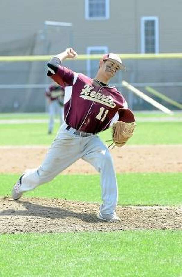Laurie Gaboardi/Register Citizen  Sacred Heart's Jamie Butler struck out seven Red Raiders, in his perfect game. He also went 4-for-4 with two doubles and two RBI.