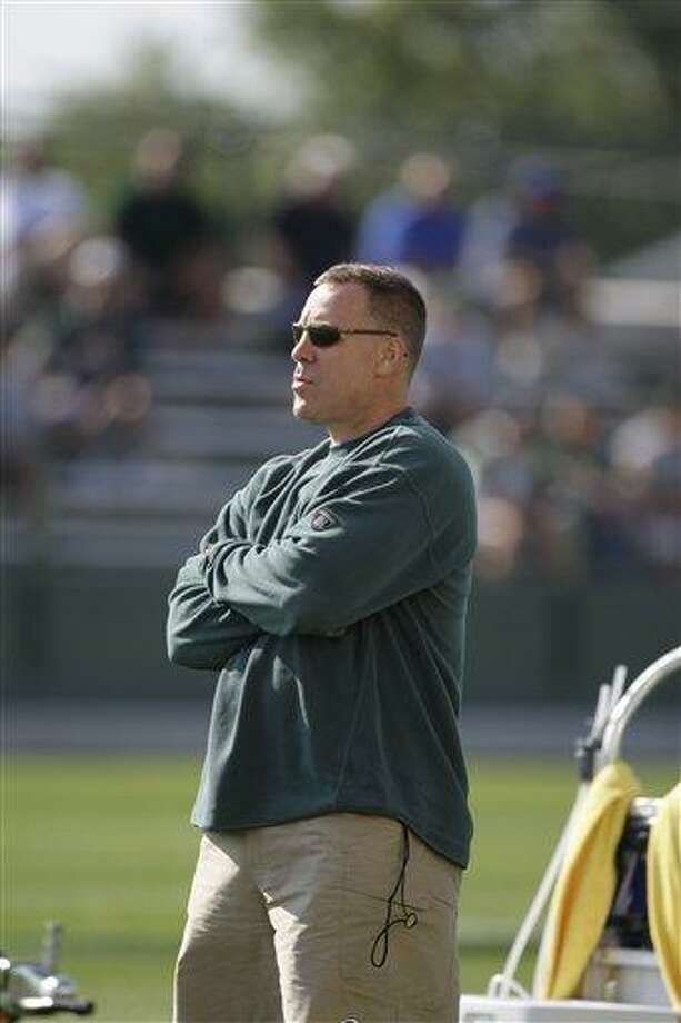 Green Bay Packers director of scouting John Dorsey is seen during NFL football training camp Sunday, Aug. 2, 2009, in Green Bay, Wis. (AP Photo/Morry Gash) Photo: ASSOCIATED PRESS / AP2009