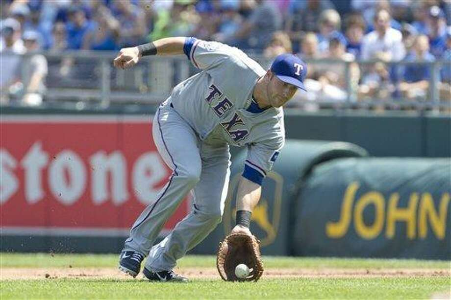 Texas Rangers first baseman Mike Olt will be a featured speaker at the GNHCC Sports Council's Hot Stove Breakfast Wednesday, January 23. (AP Photo/Orlin Wagner) Photo: ASSOCIATED PRESS / AP2012