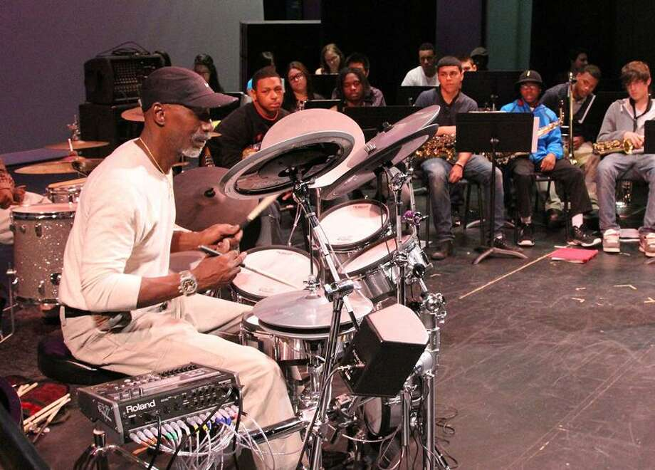 Jazz Haven photo: T.S. Monk drummed some knowledge into these young musicians at last year's event.
