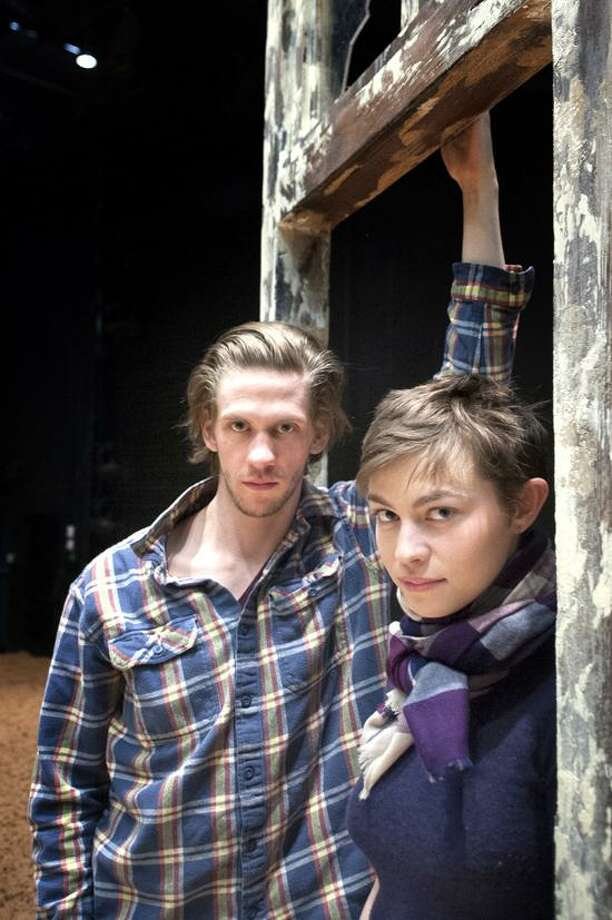 """VM Williams/Register photo: Peter Albrink and Elvy Yost make their Long Wharf debuts in Sam Shepard's """"Curse of the Starving Class,"""" which stars Judith Ivey and Kevin Tighe, and is directed by Gordon Edelstein."""