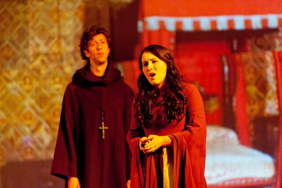 Yale Opera photo: Soprano Alison King (Giulietta) and bass David Leigh performing in Yale Opera Scenes last fall. Leigh now will sing the role of Capellio in these performances. / 2010 Dylan Cross Photographer