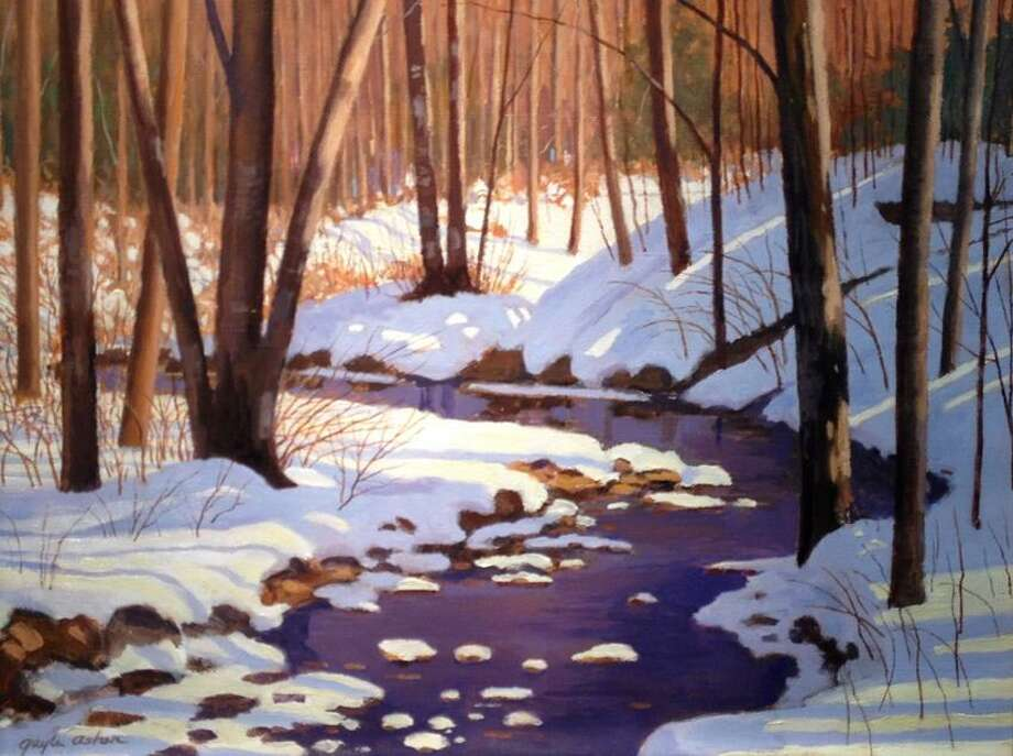 """""""Snowy Brook"""" by Guilford artist Gayle Asher"""