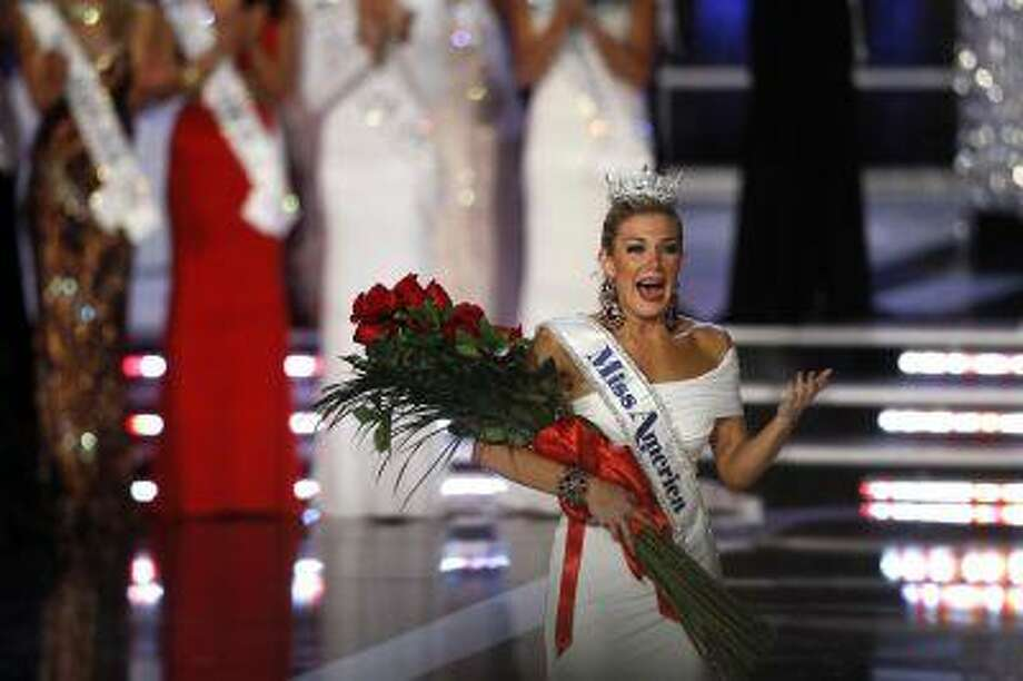 Miss New York Mallory Hytes Hagan, 23, reacts after being crowned Miss America 2013 during the Miss America Pageant in Las Vegas January 12, 2013. REUTERS/Steve Marcus (UNITED STATES - Tags: ENTERTAINMENT TPX IMAGES OF THE DAY) Photo: REUTERS / X00642