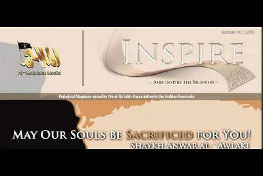 A screen shot taken on July 12, 2010, shows the cover of the first edition of Al Qaeda's Inspire magazine.