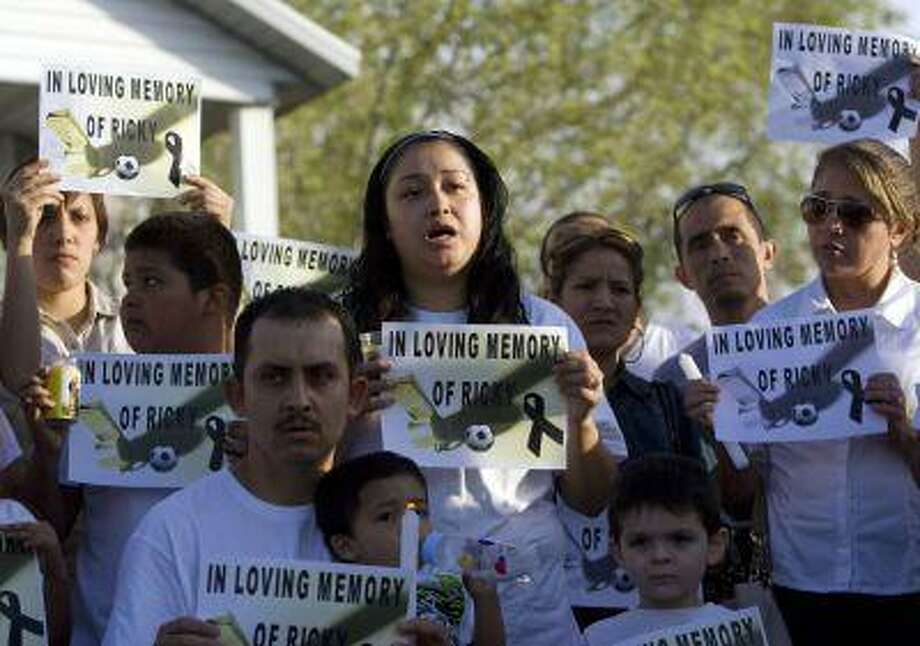 In this May 5, 2013, file photo, Johana Portillo-Lopez, daughter of Ricardo Portillo speaks about her father's death during a news conference in Salt Lake City. Photo: ASSOCIATED PRESS / AP2013