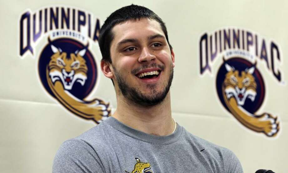 Quinnipiac goalie Eric Hartzell is one of three finalists for the Hobey Baker Award. (Associated Press)