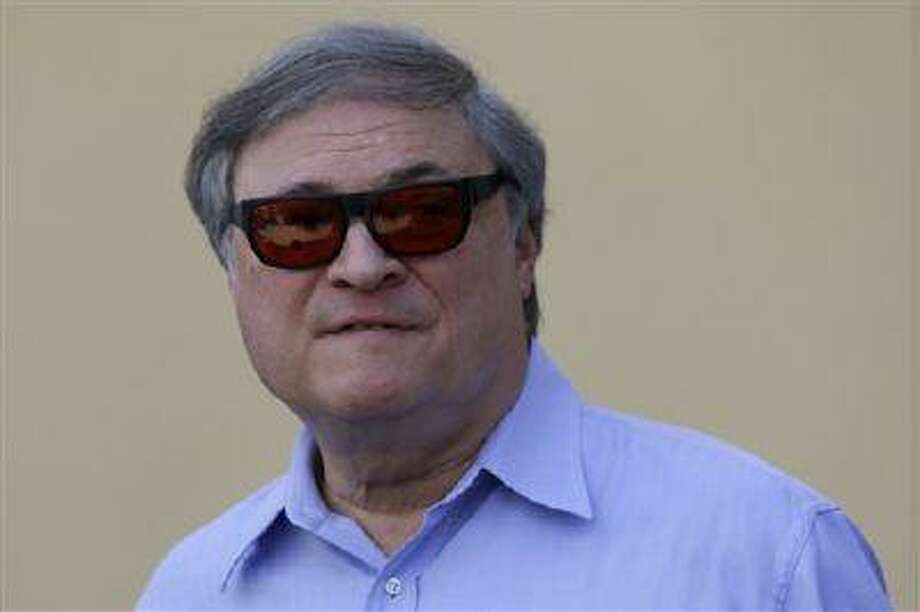 Miami Marlins owner Jeffrey Loria talks during a news conference outside of the team's spring training facility before a game against the New York Mets, Feb. 26, 2013, in Jupiter, Fla. Photo: AP / AP
