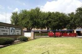Willowridge High School will have a delayed start date because of black mold, as efforts to clean it up were underway, Thursday, Aug. 3, 2017, in Houston. ( Karen Warren / Houston Chronicle )  Willowridge High School is closed for several months to remediate a mold infestation that ravaged the campus over the summer in 2017 and claimed furniture, flooring, supplies and teachers' personal items. When school starts on Aug. 22, 2017, Willowridge's 1,300 students will start classes Thurgood Marshall High School, a neighboring Fort Bend ISD campus.