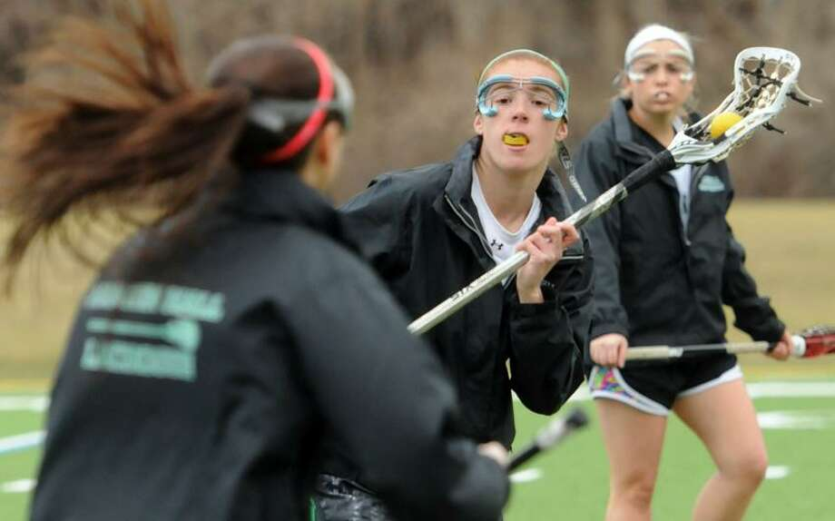 Hamden Hall lacrosse player Avery Giorgio of Madison. Mara Lavitt/New Haven Register3/28/13