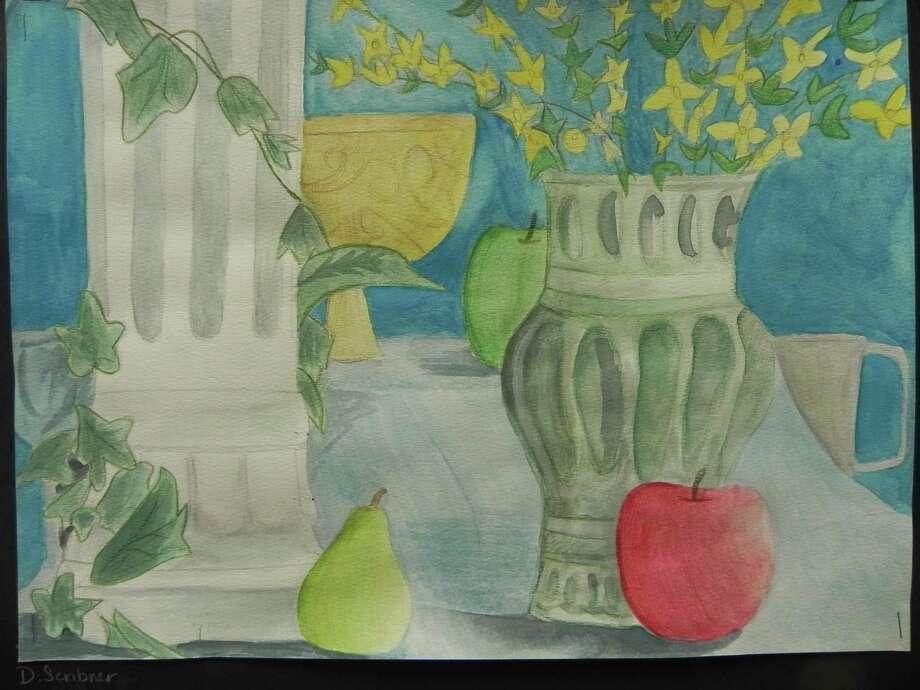 Still life by Destiny Scribner, Grade 6-8