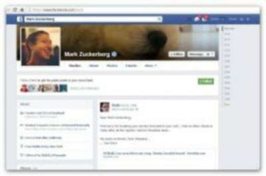 Khalil Shreateh's message on Mark Zuckerberg's wall.
