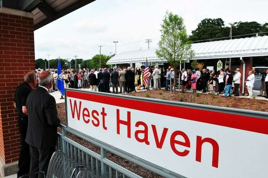 "The grand opening of the new West Haven train station. Peter Casolino/New Haven Register <a href=""mailto:pcasolino@newhavenregister.com"">pcasolino@newhavenregister.com</a>"