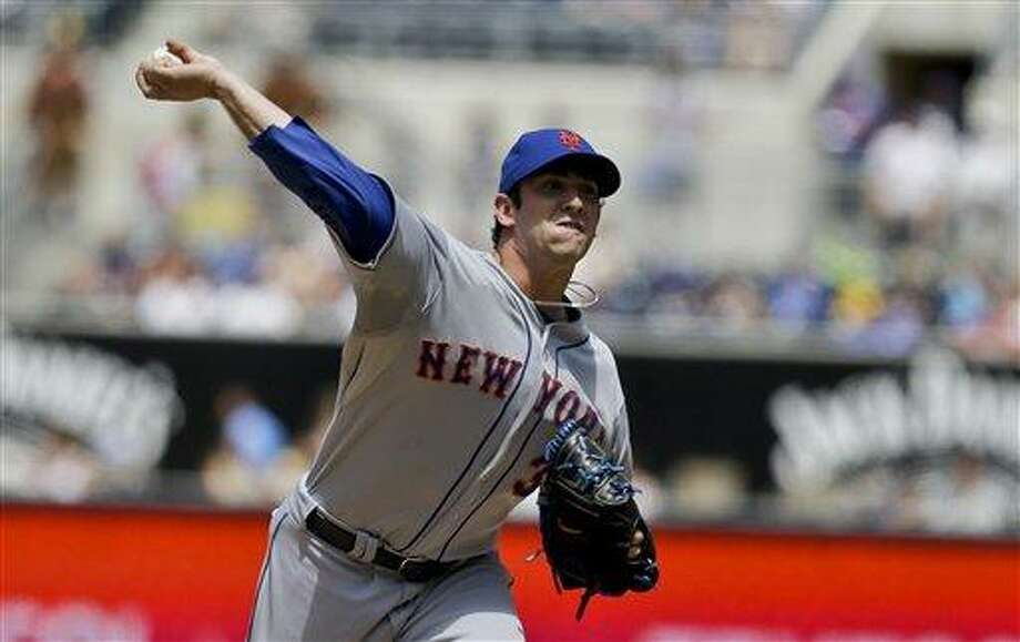 New York Mets starting pitcher Matt Harvey in the first inning of a baseball game against the San Diego Padres Sunday, Aug. 18, 2013, in San Diego. (AP Photo/Lenny Ignelzi) Photo: AP / AP