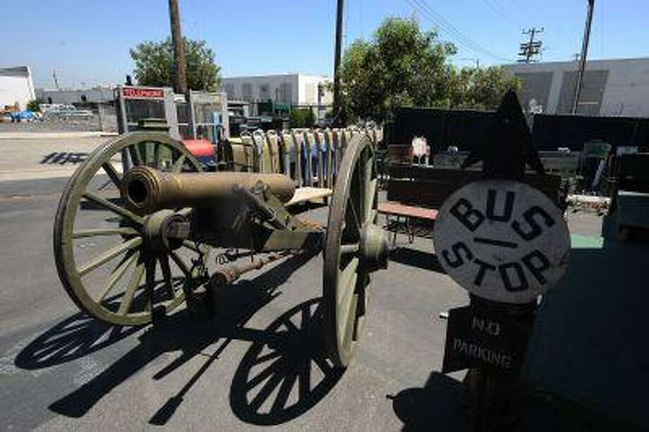 A cannon for rent at the History for Hire prop house in North Hollywood, California, August 9, 2013. Photo: AFP/Getty Images / 2013 AFP