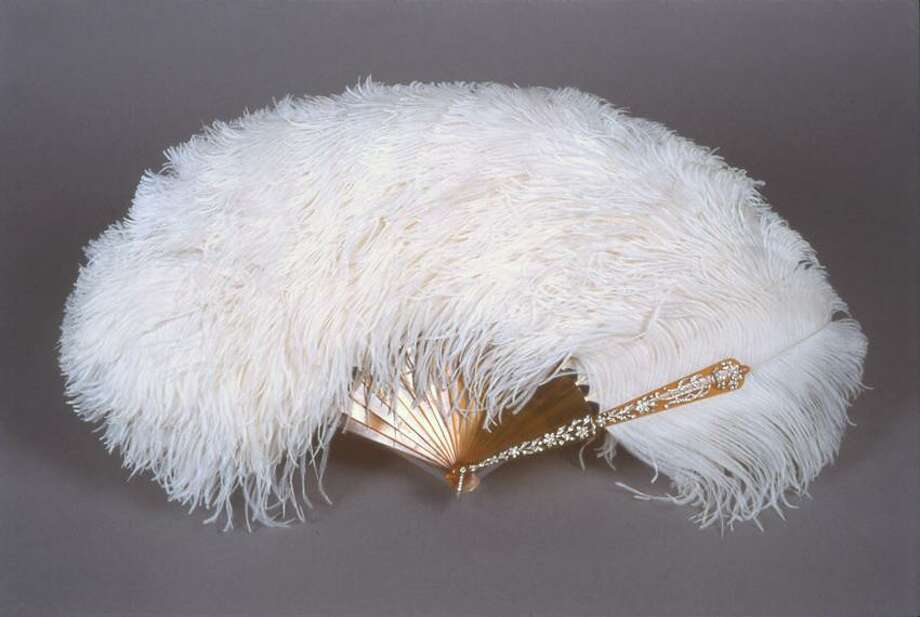 The Rothschild Collection photo: The ostrich feather industry was a huge part of the economy, supplying women like Mrs. James De Rothschild with this fan with blond tortoiseshell, silver and diamonds.