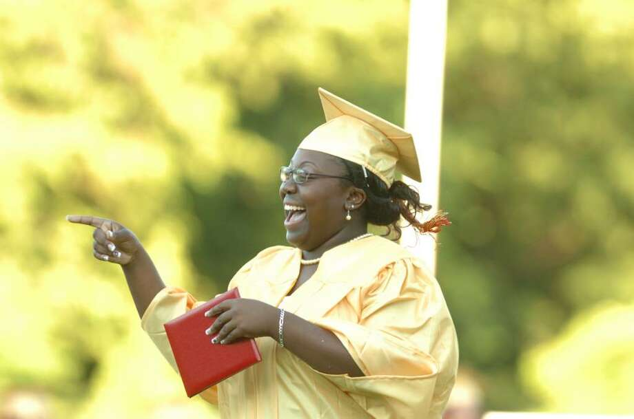 The 2010 Stratford High School Graduation Ceremony was held Thursday June 17, 2010 at Penders Field in Stratford. Photo: Autumn Driscoll / Connecticut Post