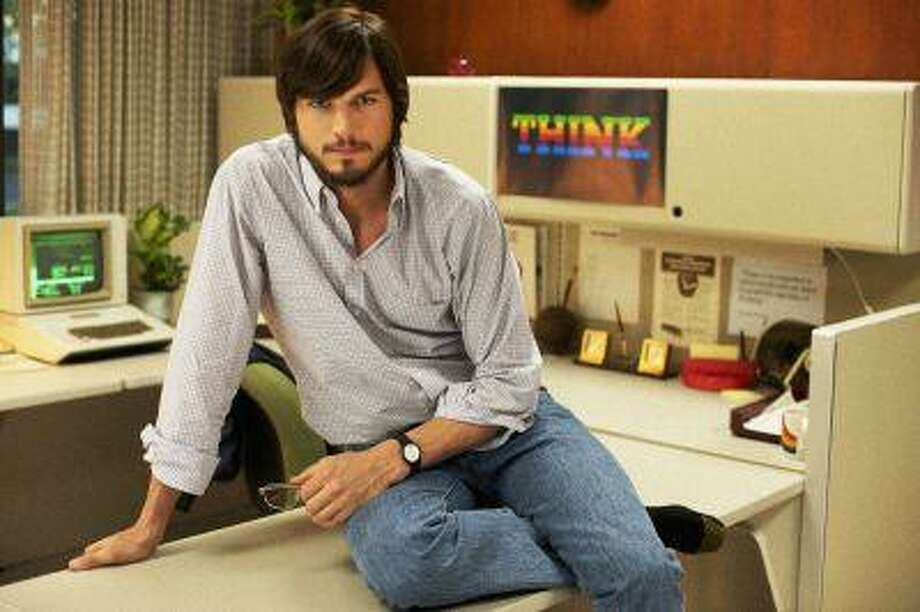 "This undated publicity photo released by the Sundance Institute shows Ashton Kutcher as Steve Jobs in the Open Roads Films movie, ""Jobs,"" directed by Joshua Michael Stern. With ""Jobs,"" Kutcher hopes his performance is as much a lesson about entrepreneurship to today's youth as it a profile of a man who revolutionized technology. (AP Photo/Sundance Institute, Glen Wilson) Photo: AP / Sundance Institute"