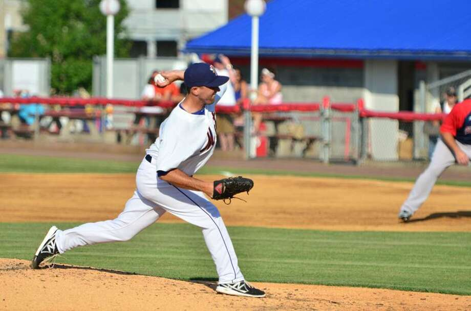 Former SCSU standout is making the transition to reliever in the Mets organization this season. (Photo courtesy of Tom Ryder)