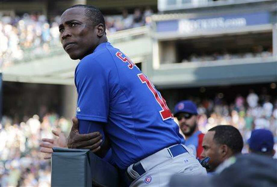 Chicago Cubs left fielder Alfonso Soriano has been traded to the Yankees. (AP Photo/David Zalubowski) Photo: AP / AP