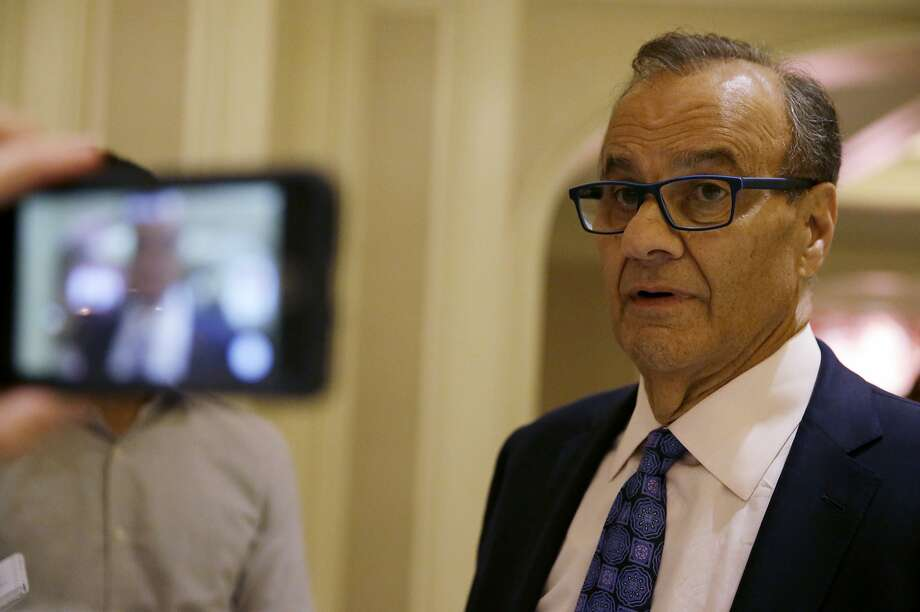 Joe Torre, chief baseball officer of Major League Baseball, talks with reporters following a meeting of Major League Baseball owners, Wednesday, Aug. 16, 2017, in Chicago. (AP Photo/Nam Y. Huh) Photo: Nam Y. Huh, Associated Press