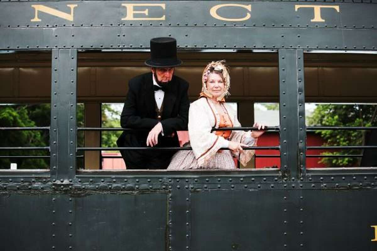 Essex Steam Train & Riverboat photo: All aboard with President Abraham and Mary Todd Lincoln.