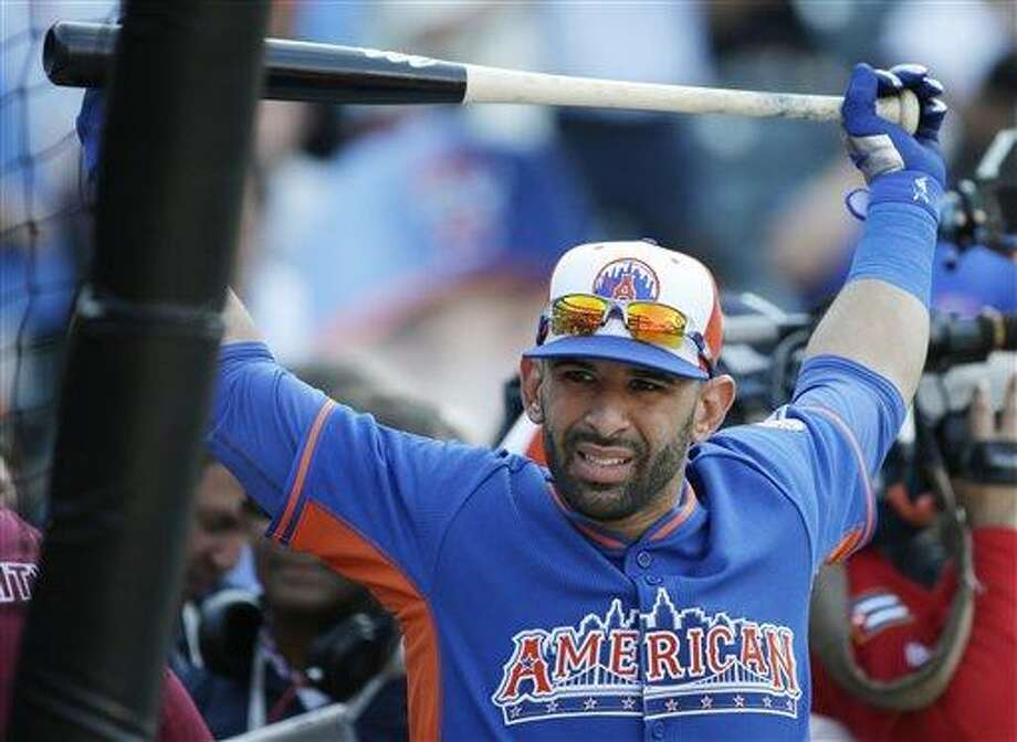 Jose Bautista should be a prime trade target for fantasy baseball owners in the second half.(AP Photo/Matt Slocum) Photo: AP / AP