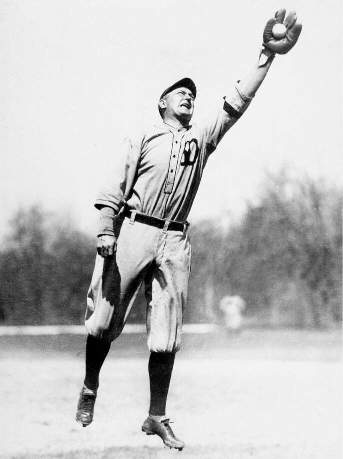 Ty Cobb, outfielder for the Detroit Tigers, is shown in action during practice in March 1921.  (AP Photo) Photo: ASSOCIATED PRESS / AP1921