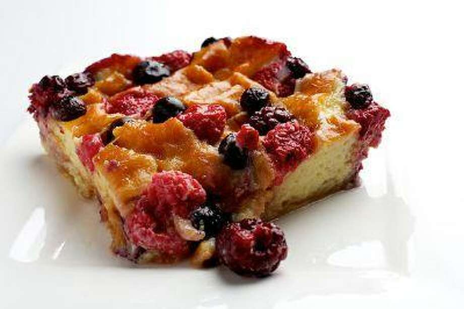 Doughnut and Berry Pudding photographed in Washington, DC. Photo by Deb Lindsey/For The Washington Post)
