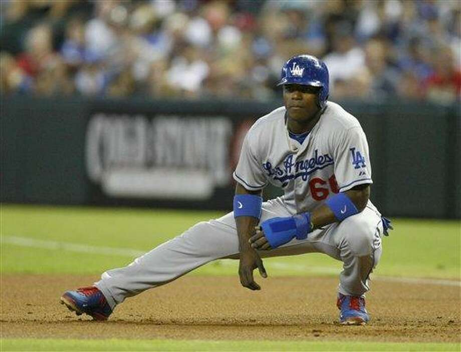 Los Angeles Dodgers Yasiel Puig. (AP Photo/Rick Scuteri) Photo: AP / FR157181 AP