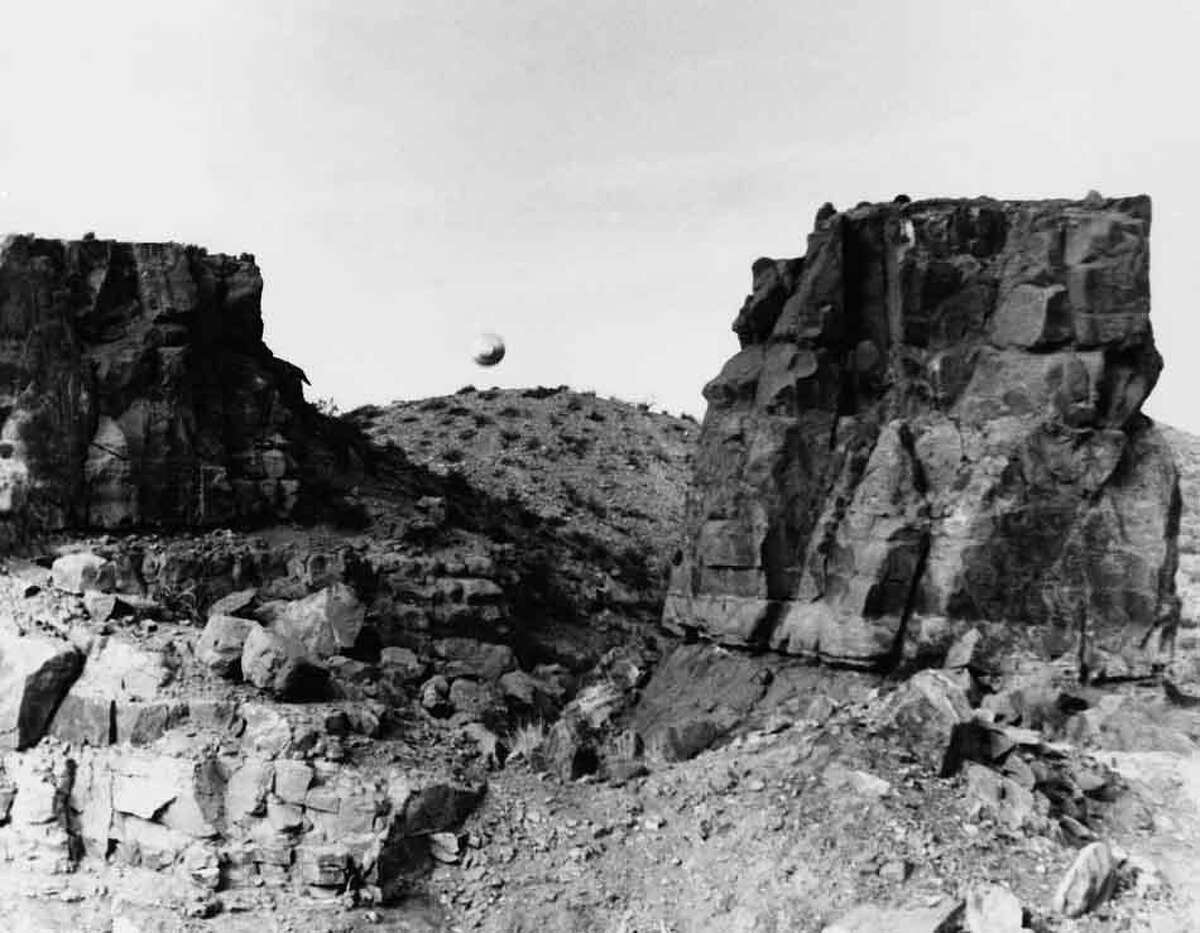 UFO sighted by a New Mexico State University student, west of Picacho Peak, 1967, NM. (AP Photo)