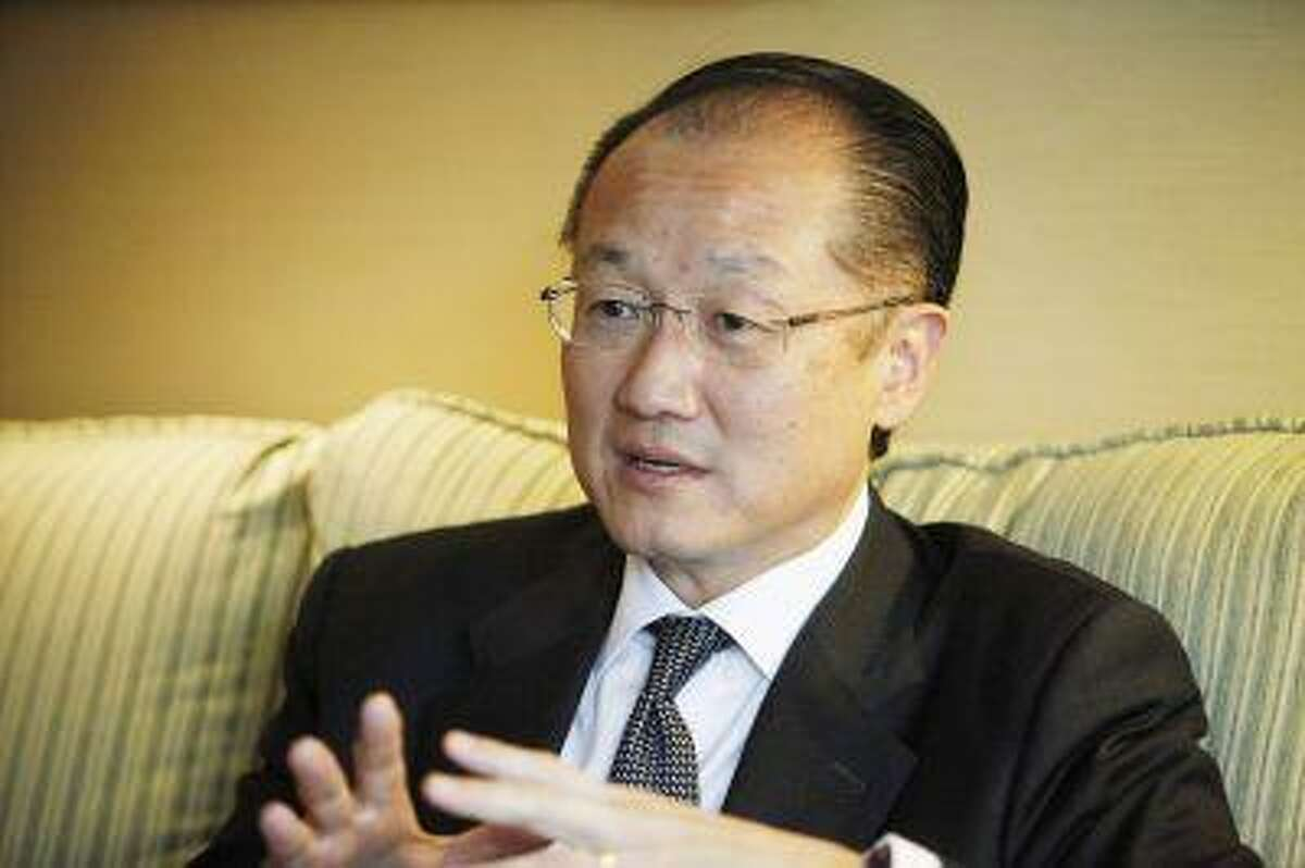 World Bank President Jim Yong Kim speaks during an interview with Reuters in Santiago July 5, 2013.