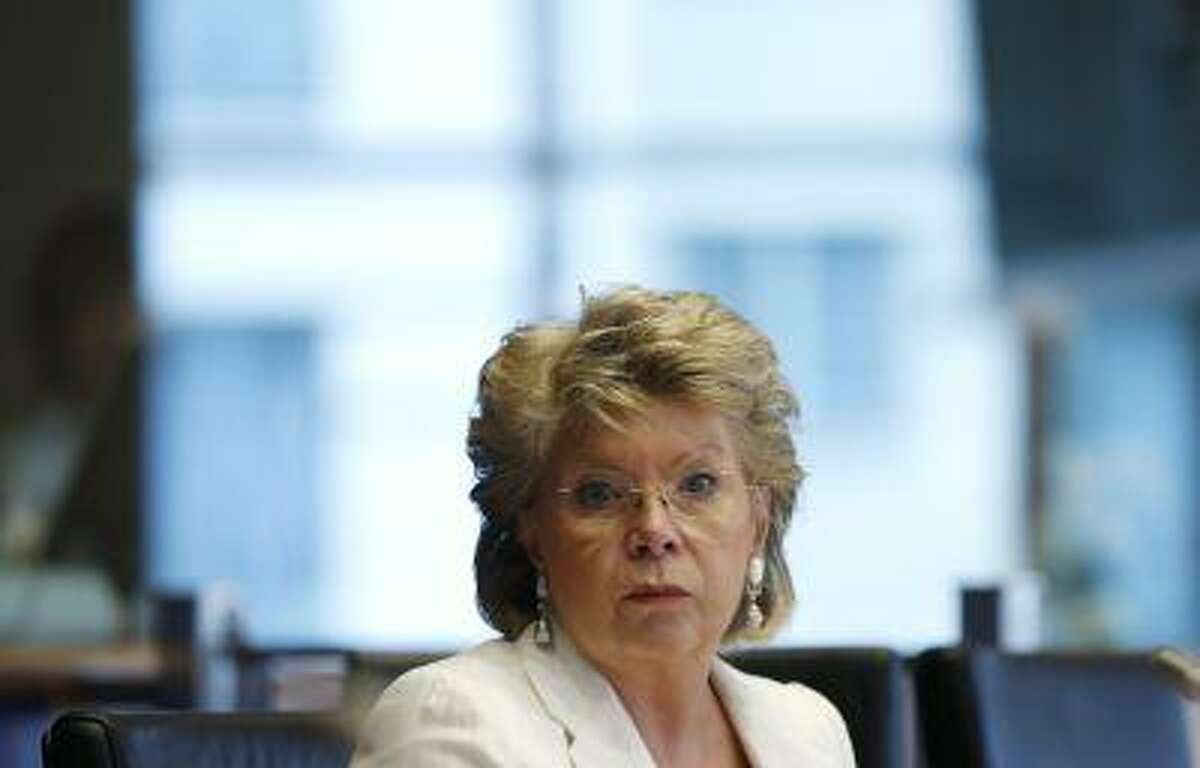 European Union Justice Commissioner Viviane Reding addresses the European Parliament's Committee on civil liberties, justice and home affairs in Brussels June 19, 2013.