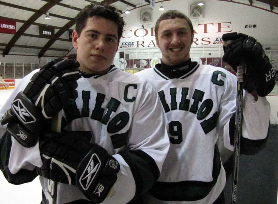 Submitted Photo by David Hollis Alex Brink, left, and Alex Foster, right, have helped Hamilton to a 5-2-1 league record in their first season of Divison I play. The Emerald Knights have clinched a playoff berth and are hoping for a home game.