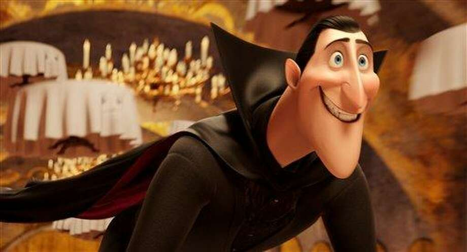 """This image released by Sony Pictures shows Dracula, voiced by Adam Sandler, in a scene from """"Hotel Transylvania."""" Associated Press Photo: AP / Sony Pictures"""