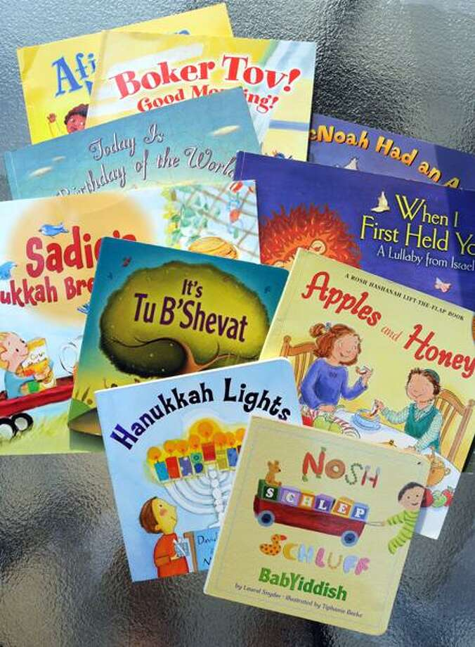 Some of the books from the PJ Library. Mara Lavitt/Register