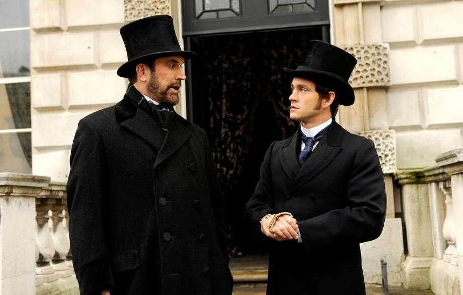 "Liam Daniel/Sony Pictures Classics photo: Rupert Everett is Edmund St. John-Smythe, left, and Hugh Dancy plays Mortimer Granville in ""Hysteria."" Photo: AP / Sony Pictures Classics"