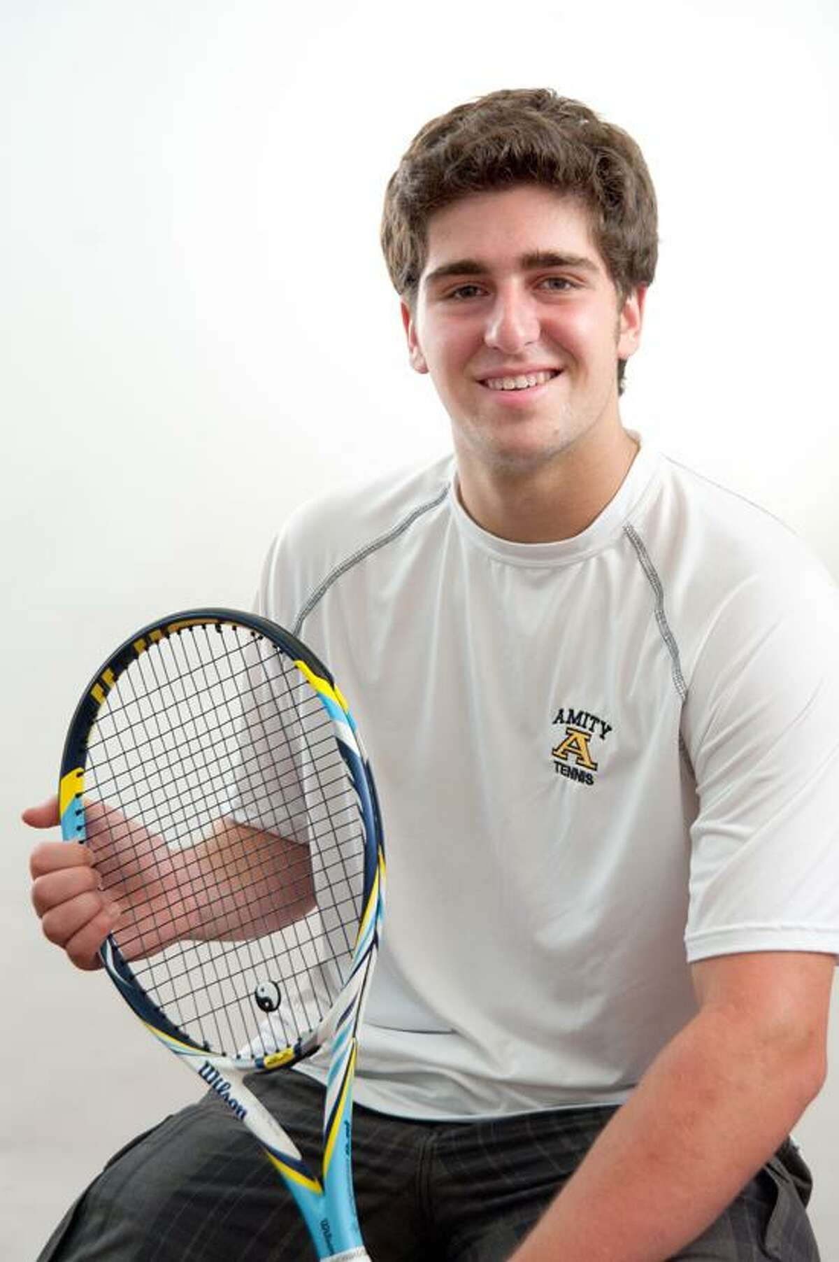 Male Athlete of the Week: Andrew Ginzberg, Amity tennis. Photo by vm Williams/Register.