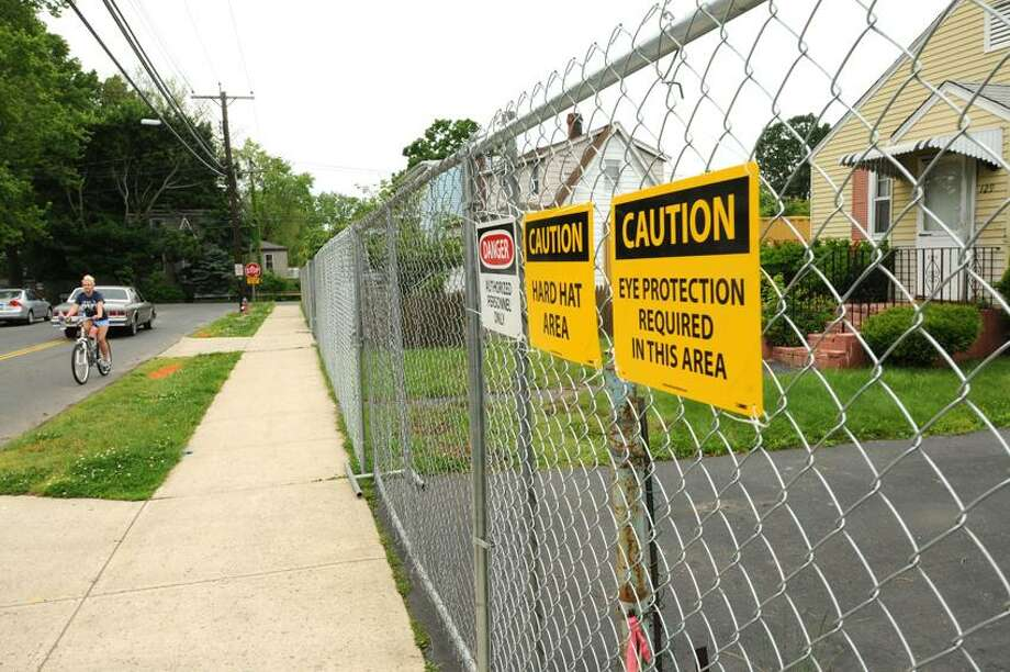 Fenced in properties on Ruden Street facing Isadore Street in West Haven. 5/23/12.Photo by Peter Hvizdak/ New Haven Register Photo: New Haven Register / ©Peter Hvizdak /  New Haven Register