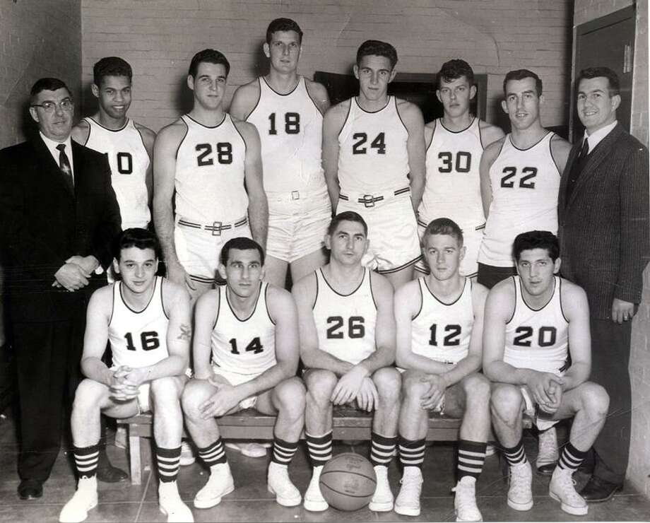 Bill Spivey, wearing No. 18, and the 1958-59 Norwood A.C. basketball team. (Submitted photo)